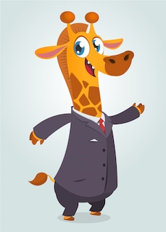 Kreskówki śmieszna żyrafy ilustracja