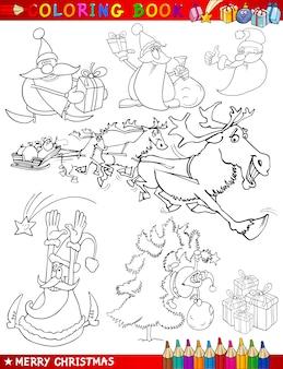 Kreskówki świąteczne motywy do kolorowania