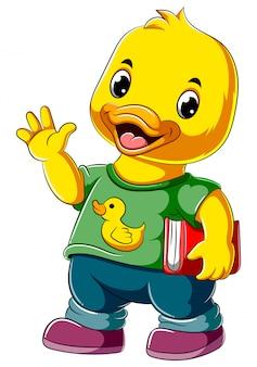 Kreskówki szczęśliwa kaczki mienia książka