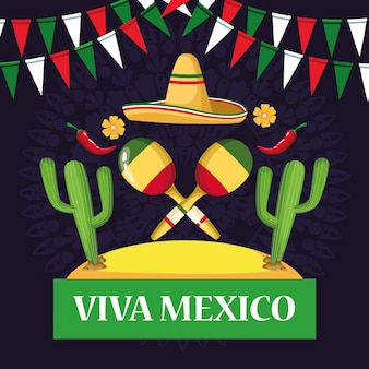 Kreskówki viva z kartami meksykańskimi