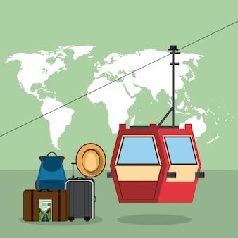 Kreskówki z podróży i wakacji
