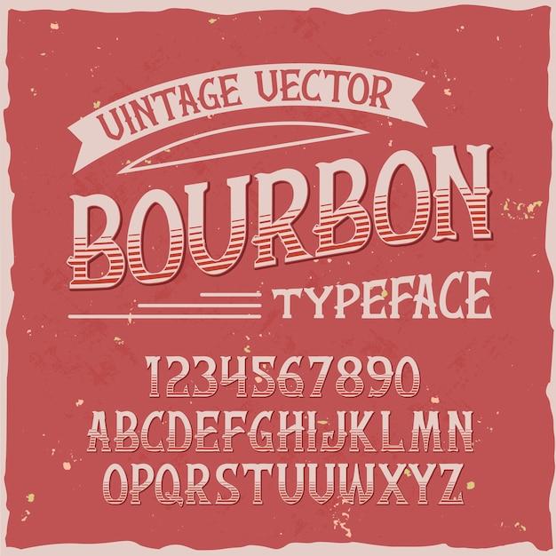 Krój Czcionki Bourbon Darmowych Wektorów