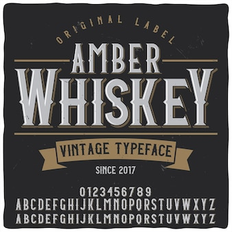 Krój pisma amber whisky