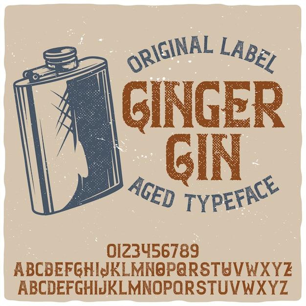 Krój pisma ginger gin