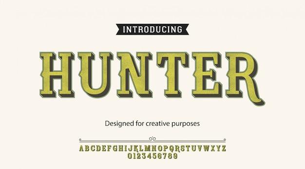 Krój pisma hunter. do etykiet i wzorów różnych typów
