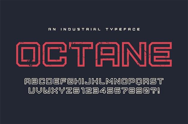 Krój pisma octane, czcionka, alfabet, typografia globalne próbki