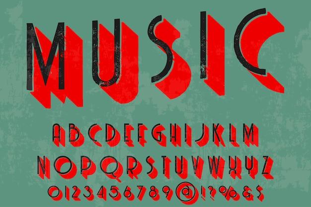 Krój pisma shadow effect projekt muzyki
