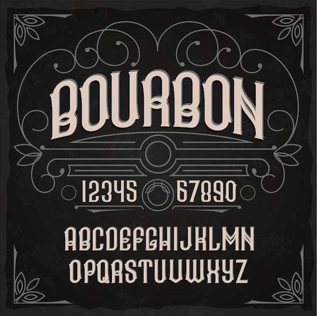 """Krój pisma vintage o nazwie """"bourbon""""."""