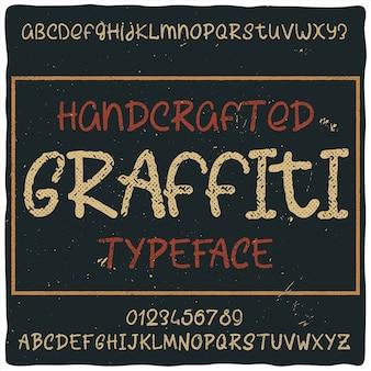 "Krój pisma vintage o nazwie ""graffiti""."