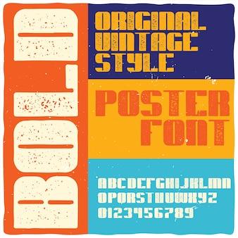"Krój pisma vintage o nazwie ""pogrubienie""."