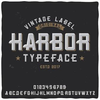 """Krój pisma vintage o nazwie """"port""""."""