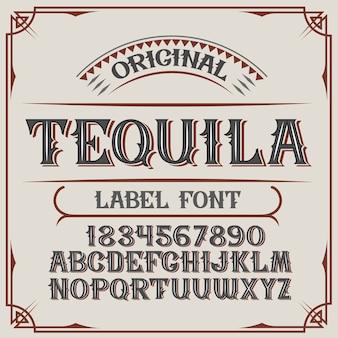 """Krój pisma vintage o nazwie """"tequila""""."""