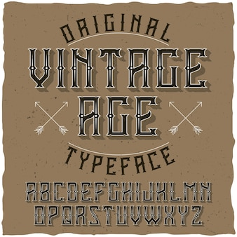 Krój pisma vintage o nazwie vintage age.