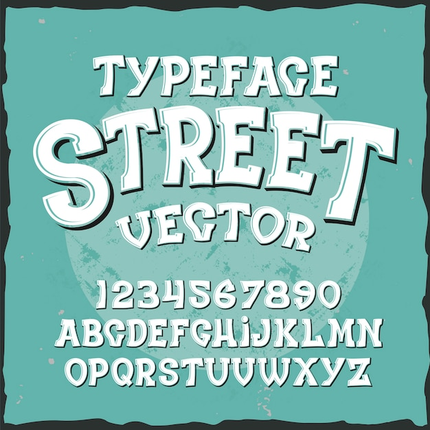 Krój pisma wektor ulicy