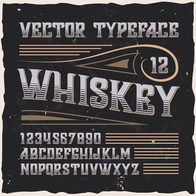 Krój pisma wektorowego whisky