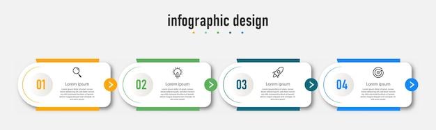 Krok infografika wykres przepływu pracy numer infografika wykres kroków procesu z ikonami linii pojęcie informacji ilustracja wykresu informacji o kroku i infografiki
