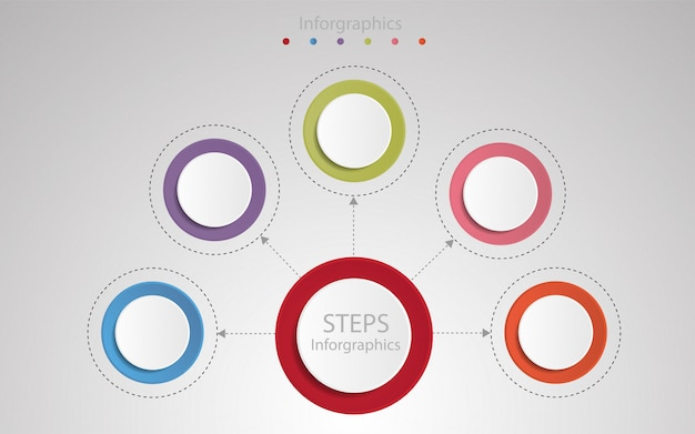 Krok infographic szablon