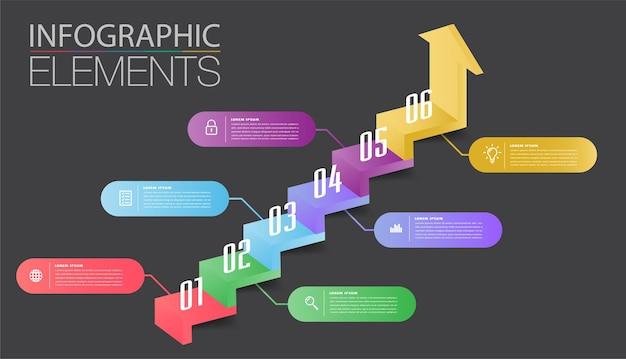 Krok naprzód pomyślnej koncepcji biznesowej infografika wektor