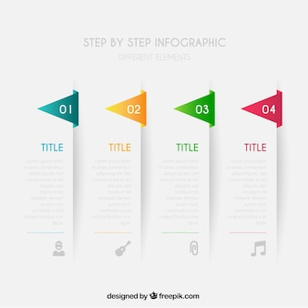 Krok po kroku infographic