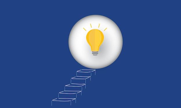 Krok w kierunku nowego pomysłu innowacje i strategia koncepcja inspiracja biznesowa