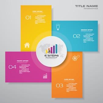 Kroki infografika wykres szablon elementu do prezentacji.