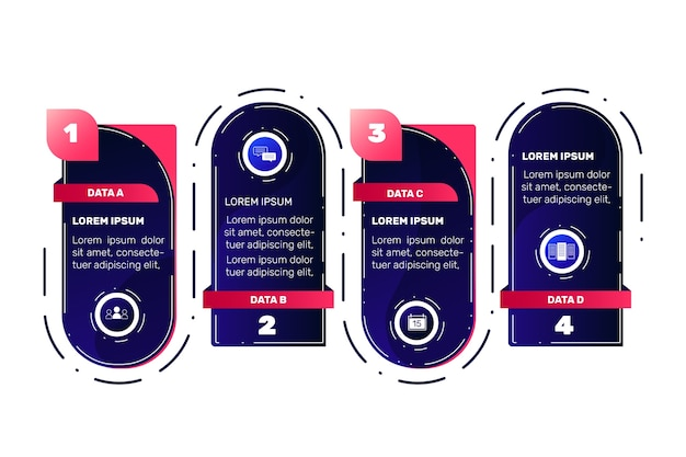 Kroki infografikę kolekcji motywu