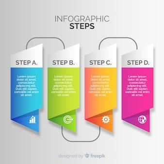 Kroki infografiki gradientu