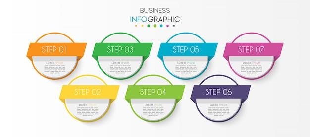 Kroki lub opcje osi czasu wykres infografikę elementu