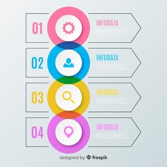 Kroki płaskie infografiki