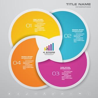 Kroki proces wykresu element infografiki.