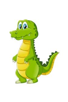 Krokodyl słodkie i zabawne zwierzęta z kreskówek