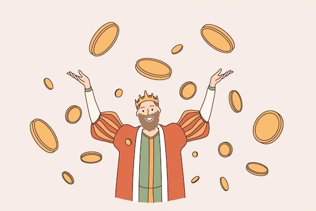 Król koncepcji bogactwa monet