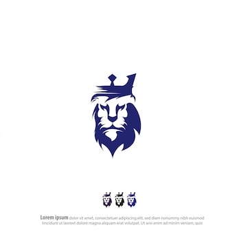 Król lew logo wektor