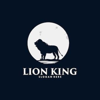Król lew w projektowaniu logo księżyca