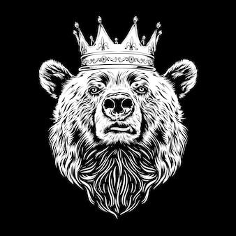 Król niedźwiedź ilustracja