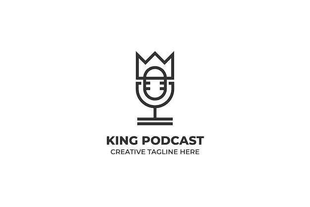 Król podcast minimalistyczne logo biznes