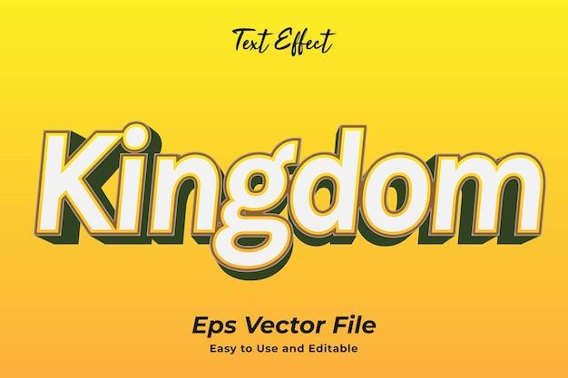 Królestwo efektów tekstowych łatwy w użyciu i edytowalny wektor premium