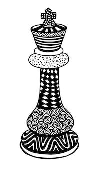 Królewiątko szachowego kawałka wektorowa ilustracyjna sztuka