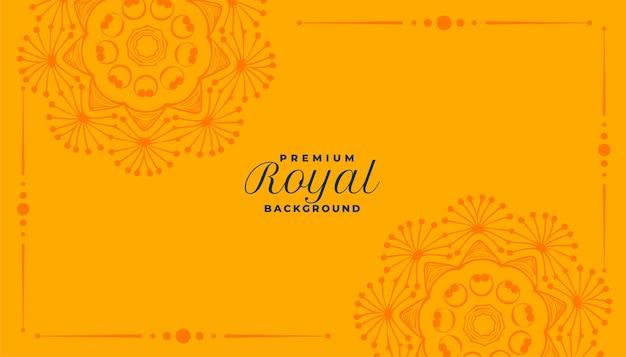 Królewska mandala ozdobny wzór tła
