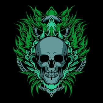 Królewska zielona czaszka