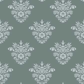 Królewski barok bezszwowe tło. szablon tła dla tkaniny lub tapety,