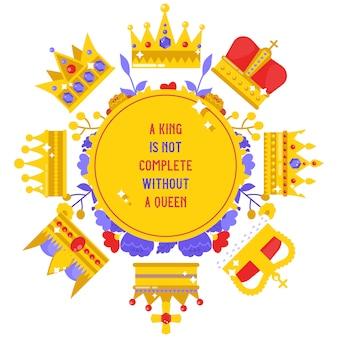 Królewski biżuteria sztandar, plakatowa wektorowa ilustracja.