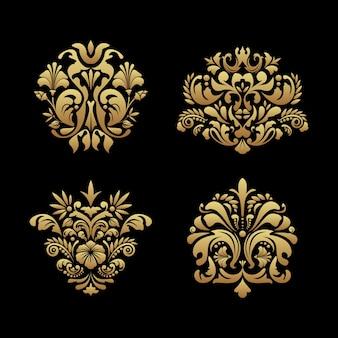 Królewskie elementy tła. klasyczny ornament, wiktoriański luksusowy wystrój w stylu barokowym, ilustracji wektorowych