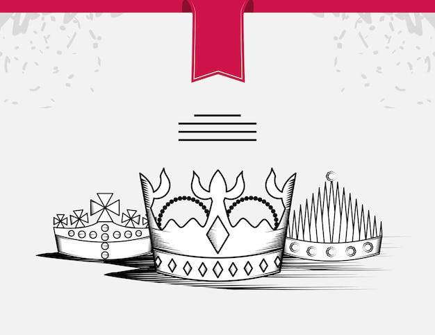 Królewskie korony vintage