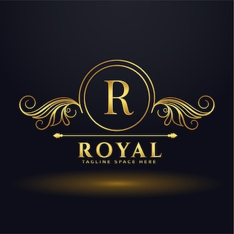 Królewskie luksusowe logo litery r dla twojej marki