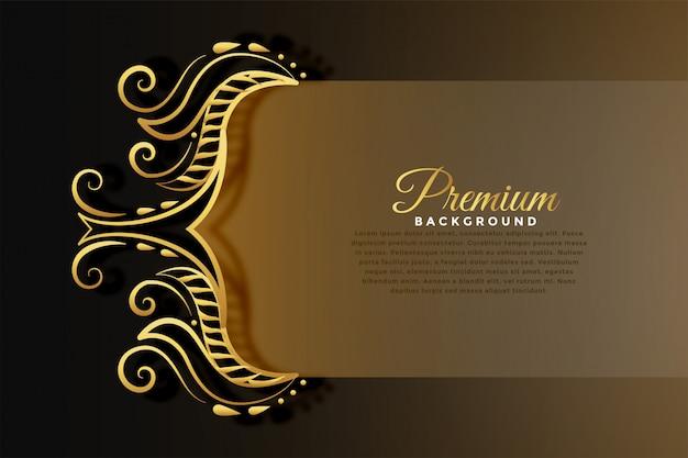 Królewskie tło zaproszenie w złotym stylu premium