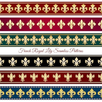 Królewskie wzory bez szwu granic. wiktoriański wystrój vintage, kwiatowy ilustracji wektorowych retro