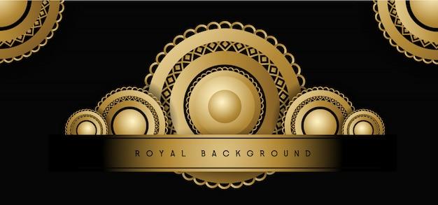 Królewskie złote tło