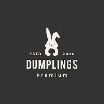 Królik królik dumpingu hipster vintage logo