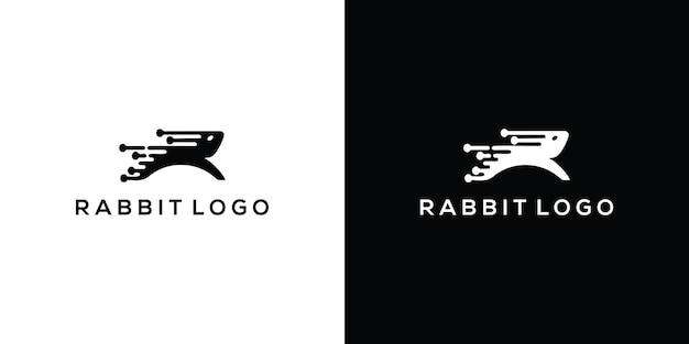 Królik wektor ikona ilustracja projekt logo szablon premium wektorów